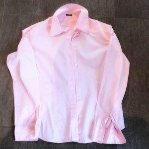 United Colors size M pink dress shirt